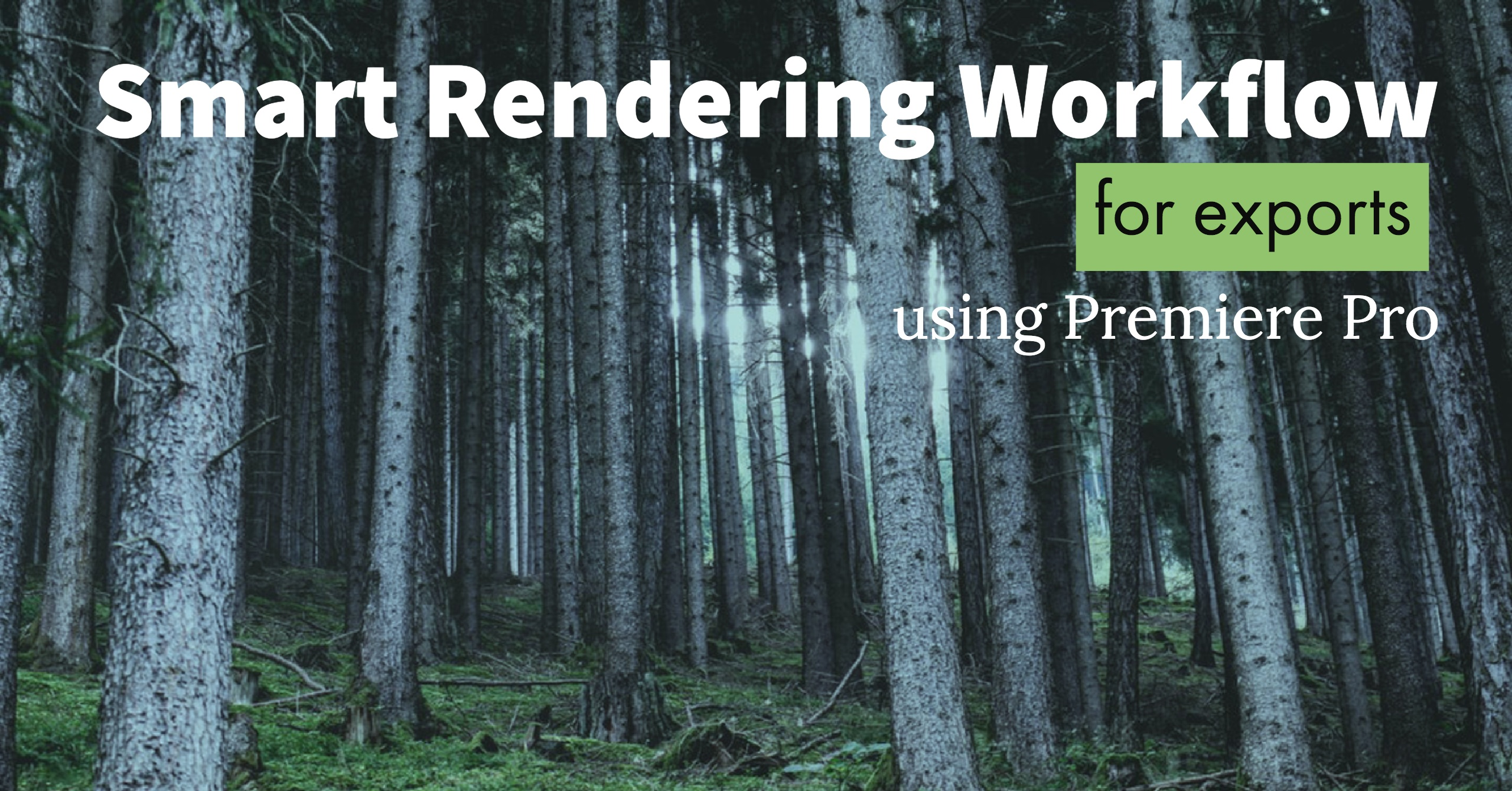 Premiere Pro Smart Rendering For Faster Exports – Welcome to